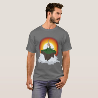 Majestic deer thing on floating island T-Shirt