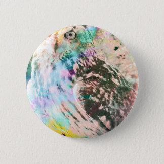 Majestic Eagle Owl Digital Watercolor 2 Inch Round Button