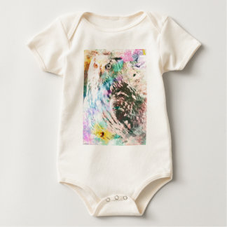 Majestic Eagle Owl Digital Watercolor Baby Bodysuit