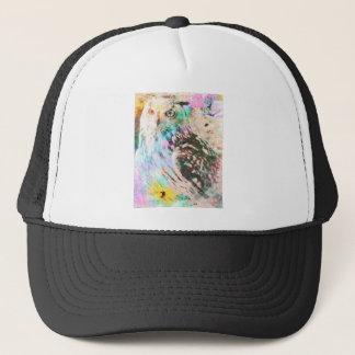 Majestic Eagle Owl Digital Watercolor Trucker Hat