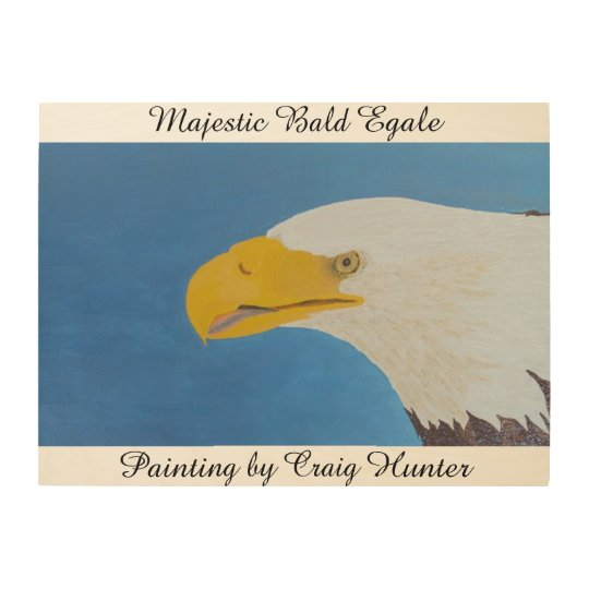 Majestic egale wood print