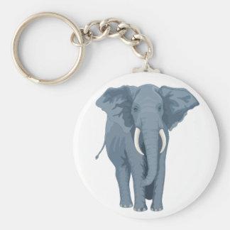 Majestic Elephant Basic Round Button Keychain