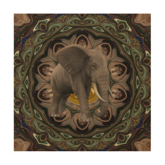 Majestic Elephant. Wood Wall Art