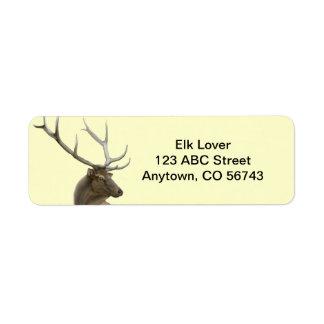 Majestic Elk Buck Customizable Return Address Labels