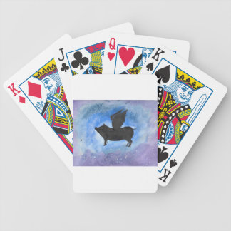 Majestic Flying Pig Bicycle Playing Cards