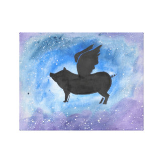 Majestic Flying Pig Canvas