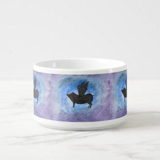 Majestic Flying Pig Chili Bowl