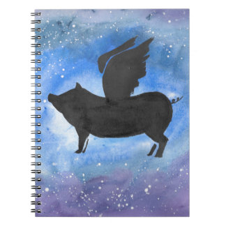 Majestic Flying Pig Notebook