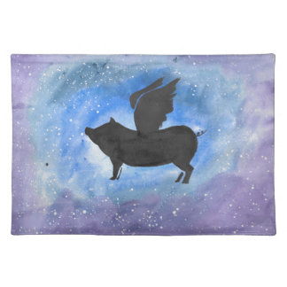 Majestic Flying Pig Placemat