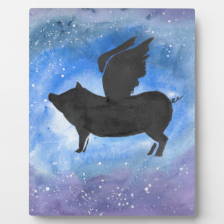 Majestic Flying Pig Plaque