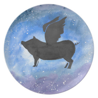 Majestic Flying Pig Plate
