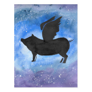 Majestic Flying Pig Postcard
