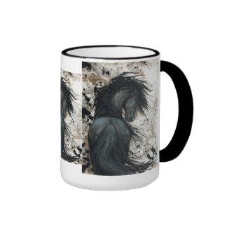 Majestic Friesian Horse by Bihrle Mug