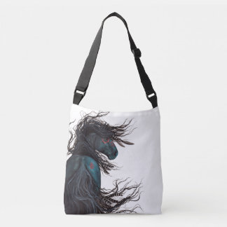 Majestic Friesian Horse Tote by Bihrle