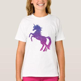 Majestic Galaxy Unicorn Art Girl's White T-Shirt