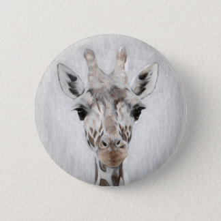 Majestic Giraffe Portrayed multiproduct selected 2 Inch Round Button