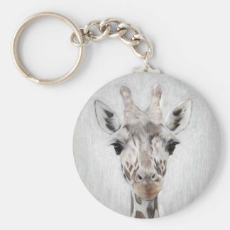 Majestic Giraffe Portrayed multiproduct selected Basic Round Button Keychain