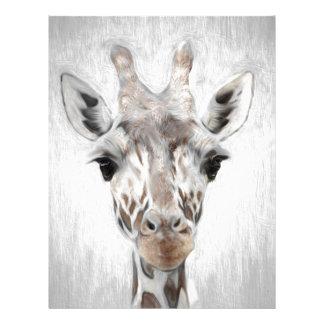 Majestic Giraffe Portrayed multiproduct selected Customized Letterhead