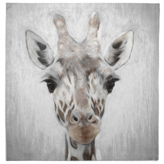 Majestic Giraffe Portrayed multiproduct selected Napkin