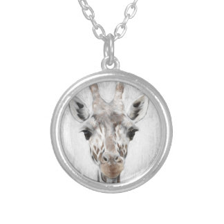 Majestic Giraffe Portrayed multiproduct selected Silver Plated Necklace