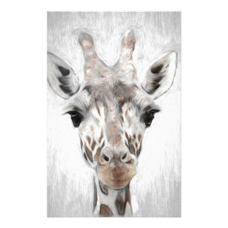 Majestic Giraffe Portrayed multiproduct selected Stationery