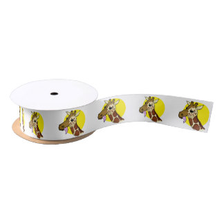 Majestic Giraffe Ribbon Satin Ribbon