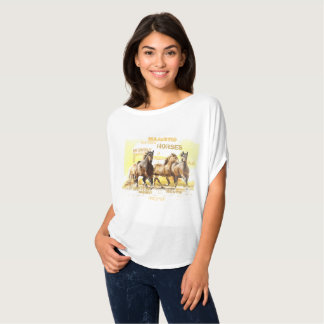 Majestic Horses Flowy Circle Top