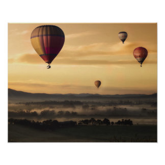 Majestic Hot Air Balloons Poster