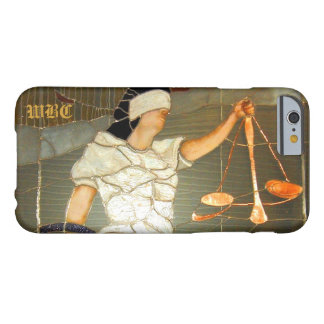 Majestic Lady Justice Portrait in Stained Glass Barely There iPhone 6 Case