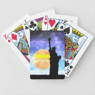Majestic Lady Liberty Bicycle Playing Cards