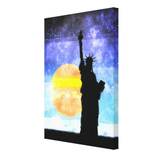 Majestic Lady Liberty Canvas Print