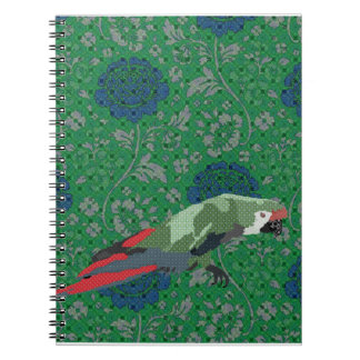 Majestic Macaw Green & Blue Notebook