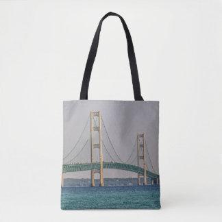 Majestic Mackinac Bridge Tote Bag