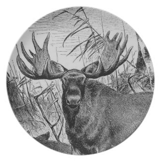 Majestic Moose Plate
