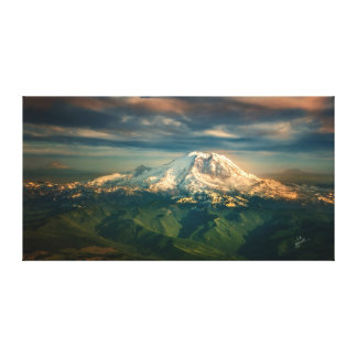 Majestic Mount Rainier Photo Art Canvas Print
