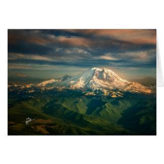 Majestic Mount Rainier Washington State Photo Card