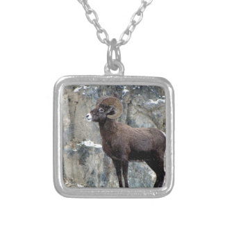 Majestic Mountain Bighorn Silver Plated Necklace