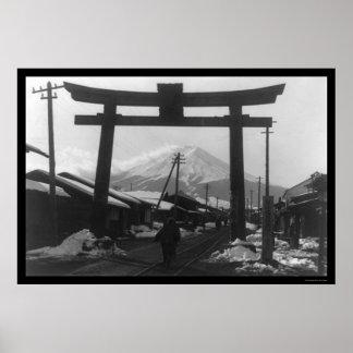 Majestic Mt. Fuji, Japan 1909 Poster