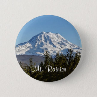 Majestic Mt. Rainier 2 Inch Round Button