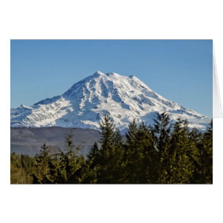 Majestic Mt. Rainier Card