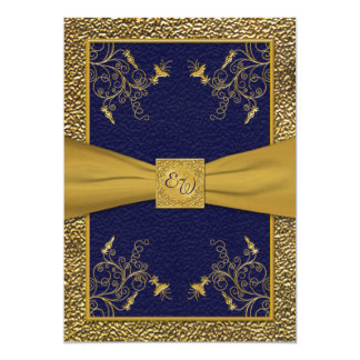 Navy And Gold Wedding Invitations & Announcements   Zazzle Canada