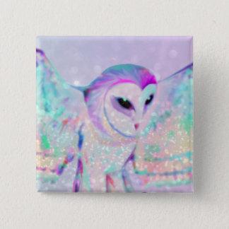 Majestic Owl 2 Inch Square Button
