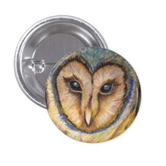 Majestic Owl Button