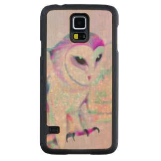 Majestic Owl Carved Maple Galaxy S5 Case