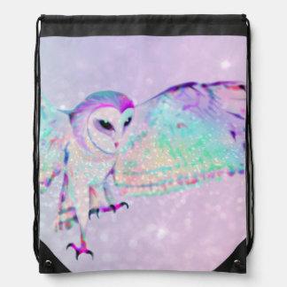 Majestic Owl Drawstring Bag
