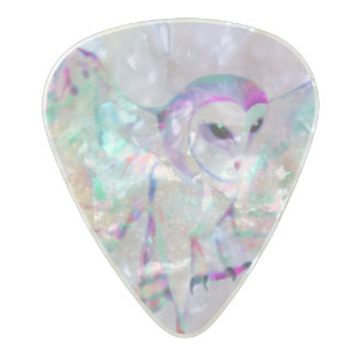 Majestic Owl Pearl Celluloid Guitar Pick