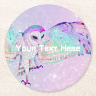 Majestic Owl Round Paper Coaster