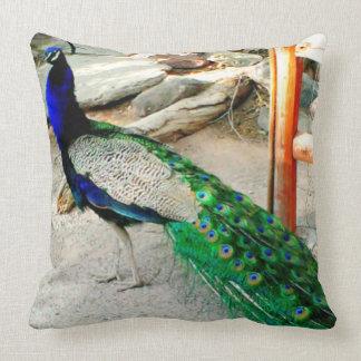 "Majestic Peacock - 20"" x 20"" Throw Pillow"