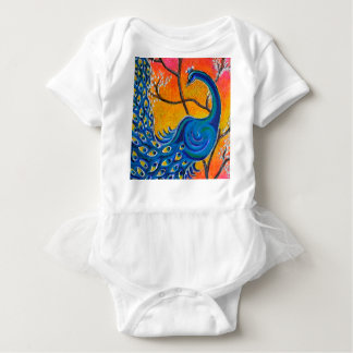 Majestic Peacock Baby Bodysuit