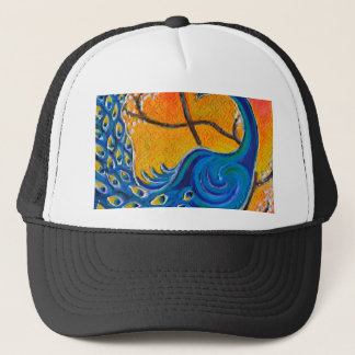 Majestic Peacock Trucker Hat